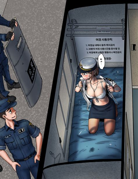 rule 34 color copyright request female gogocherry in the bus korean text male police woman sex