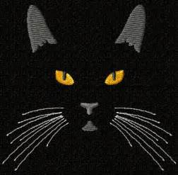 Free Cat Machine Embroidery Design