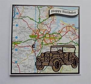 Man's Birthday Card. Vintage car card. Card for a man ...