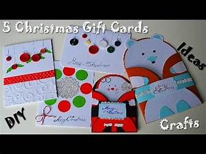 5 Christmas & New Year Gift Cards DIY Paper Crafts