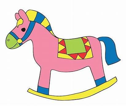 Toys Toy Cartoon Clipart Horse Clip Rocking