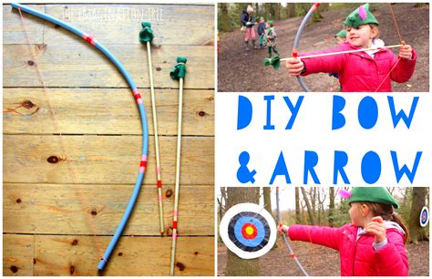 Diy Bow And Arrow For Kids!-the Imagination Tree