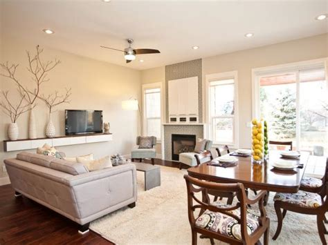 combination living room dining room  white  neutral