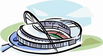 Stadium Football Clipart Wembley Vector Illustration England