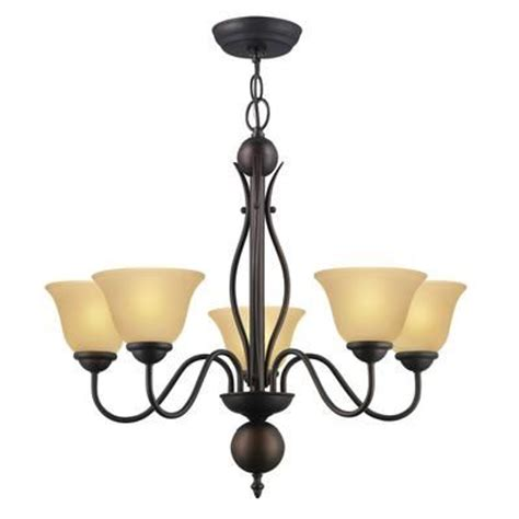 Light Fixtures Home Depot Canada by Hton Bay Simplicity 5 Light Orb Chandelier 1480 5
