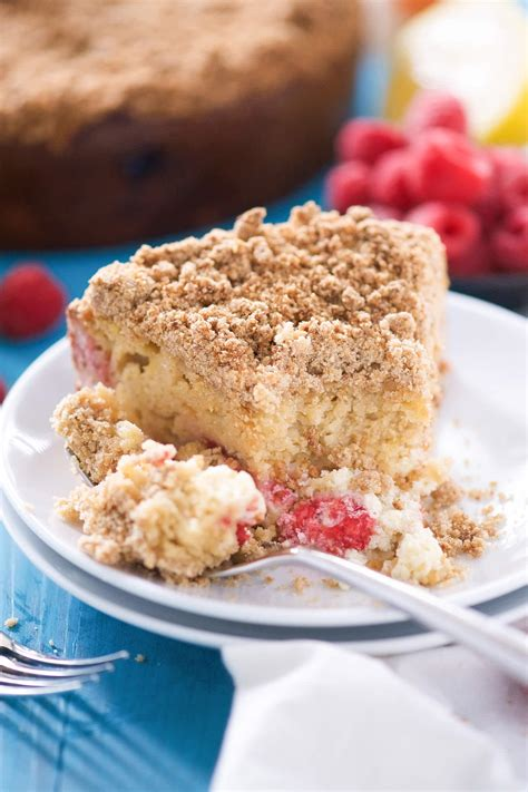 For the glaze, i like to make the glaze a bit thicker than typical glazes because it adds that extra oomph of. Lightend Up Lemon Berry Cream Cheese Coffee Cake - With ...