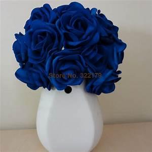 Aliexpress com : Buy 100X Artificial Flowers Royal Blue