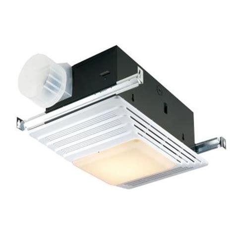 home depot heater fan broan 50 cfm ceiling exhaust fan with light and heater