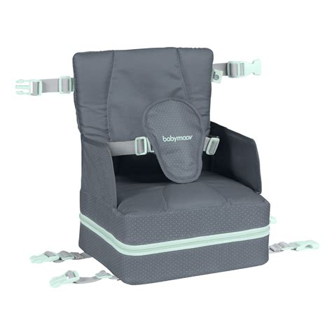 rehausseur de chaise bébé réhausseur de chaise up and go grey de babymoov sur allobébé