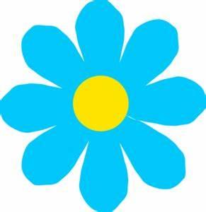 Bright Blue Flower Clip Art at Clker com - vector clip art
