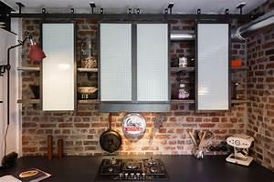 Meuble De Cuisine Industriel : meuble de cuisine industriel industriel cuisine paris par les ateliers du 4 ~ Teatrodelosmanantiales.com Idées de Décoration