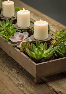 Weathered, Candle, And, Centerpiece, Planter