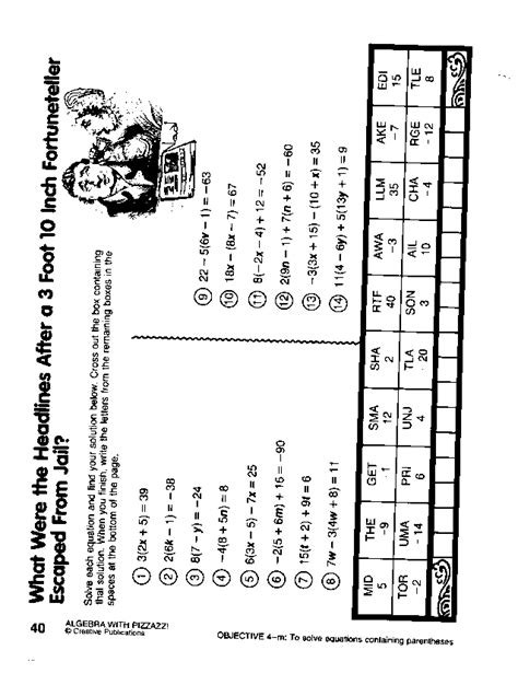 Algebra With Pizzazz 162 Worksheet Worksheets For All  Download And Share Worksheets  Free On