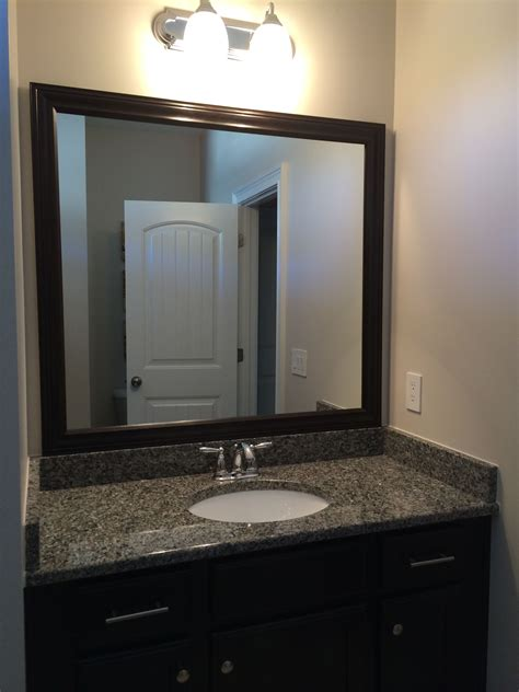 Sided Bathroom Mirror by Diy Framed Mirror We Used Sided To Mount Frame