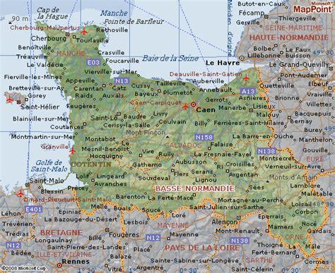 Carte De Normandie Detaillee by Carte Basse Normandie