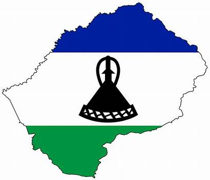 Lesotho Flag Map Travel Planner Type Africa