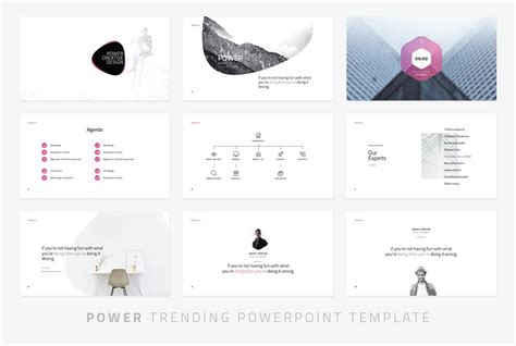 power modern powerpoint template powerpoint templates