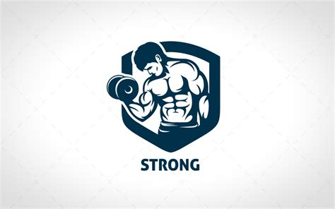 Strong BodyBuilding Logo For Sale - Lobotz