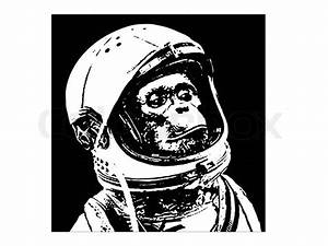 Monkey Astronaut Stencil - Pics about space