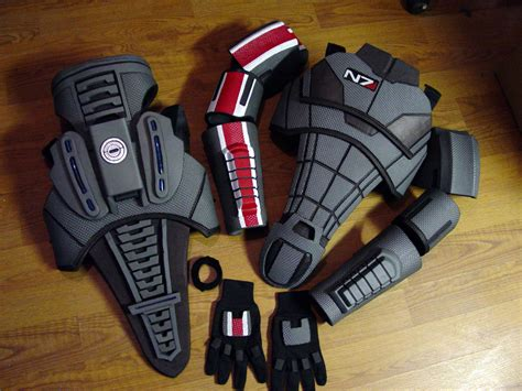 Mass Effect 3 N7 Armor Template by Chest Armor Foam Templates Cool Templates Www Template