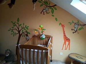 chambre bebe jungle 6 photos debusschere With exemple de decoration de jardin 4 deco chambre bebe jungle
