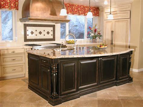 paint kitchen island high end tuscan kitchen islands this high end kitchen
