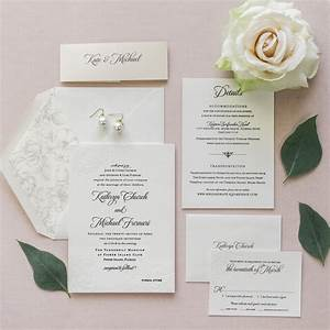 Elegant floral letterpress wedding invitations miami for Letterpress wedding invitations miami