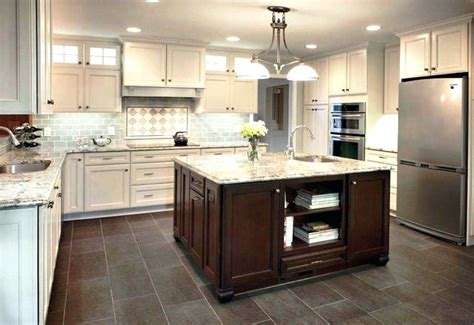 floor ideas for kitchen kitchen floor tile ideas with cherry cabinets 7247