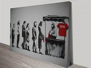 banksy destroy capitalism canvas wall art australia With banksy wall art