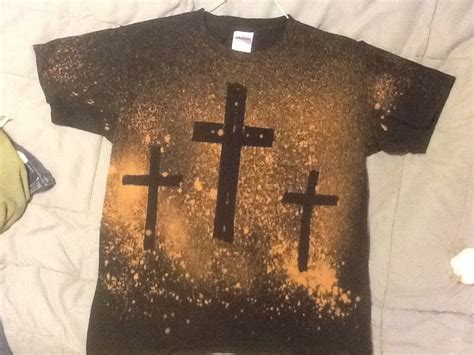 To Make The Cross Shirt Use A Black Tee Shirt And Tear