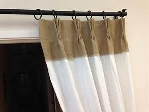 Rideau Toile De Jute : 84 lin rideaux rideaux de toile de jute pinch pli par ~ Farleysfitness.com Idées de Décoration