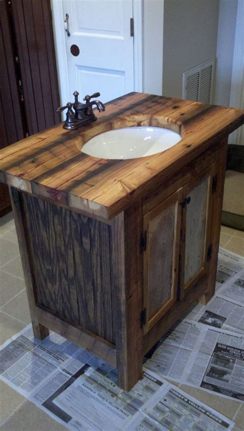 Bad Waschtisch Holz by Rustic Bathroom Vanity Barn Wood Pine Undermount Sink Via