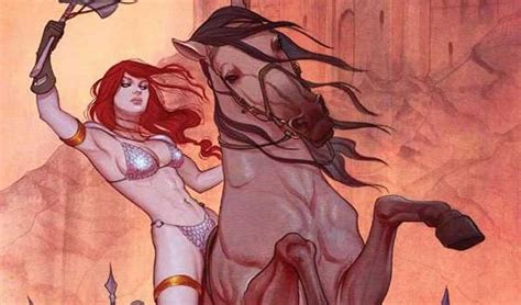 Riding Horse Into Battle Red Sonja Hentai Pics