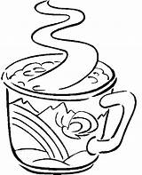 Coffee Drinks Coloring Pages sketch template