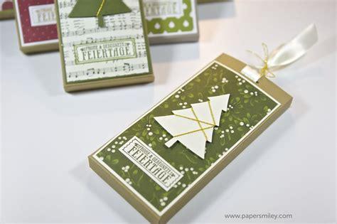 weihnachts schoko verpackung mit produkten von stampin