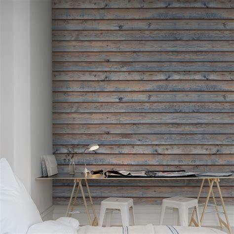 papier peint effet planches de bois vieillies rebel