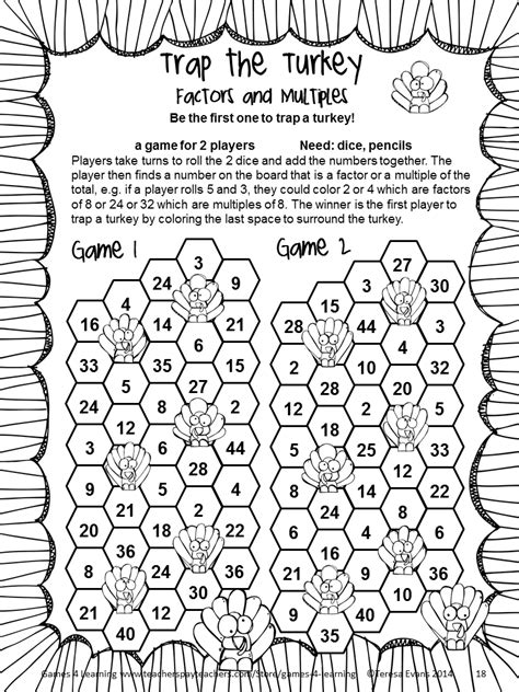 4th Grade Thanksgiving Printable Activities  Happy Easter & Thanksgiving 2018