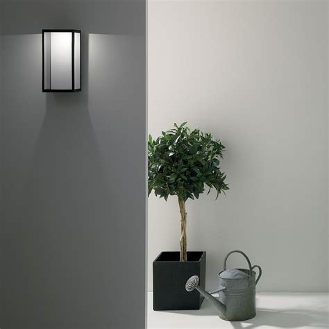 astro puzzle black outdoor led wall light at uk electrical