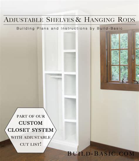 how to build a closet system the build basic custom closet system adjustable shelves