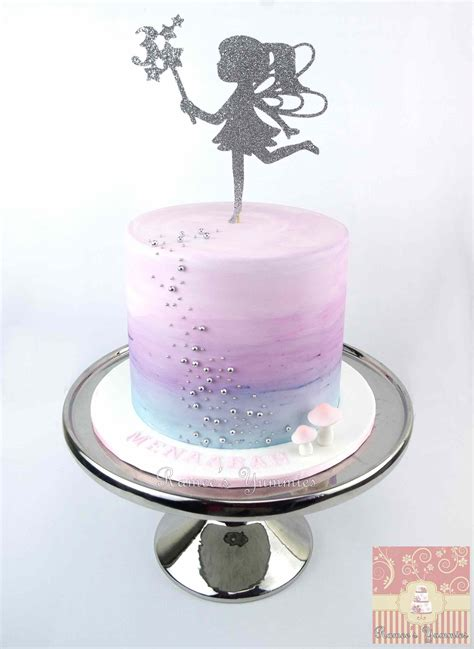 fairy birthday cake  water colour effect www