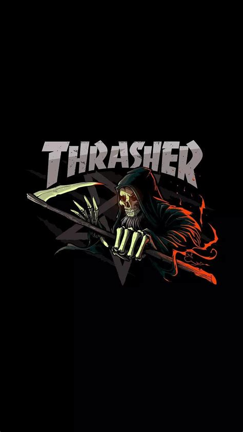 Cool Logo Backgrounds Hd Thrasher Logo Wallpaper 57 Images