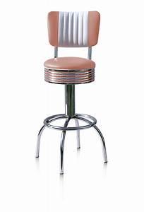 Tabouret De Bar Rose : tabouret de bar mi haut dossier 4 pieds rond bel air vintage ~ Teatrodelosmanantiales.com Idées de Décoration