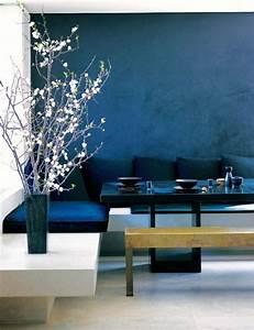 Grau Blaue Wand : wand streichen in farbpalette der wandfarbe blau interior design blaue w nde w nde ~ Watch28wear.com Haus und Dekorationen