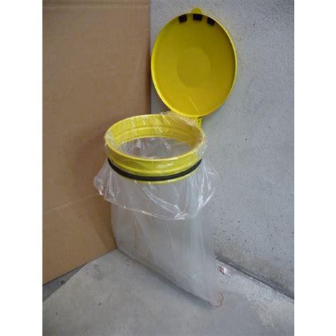support sac poubelle cuisine support sac poubelle de 80 à 110l mural avec couvercle
