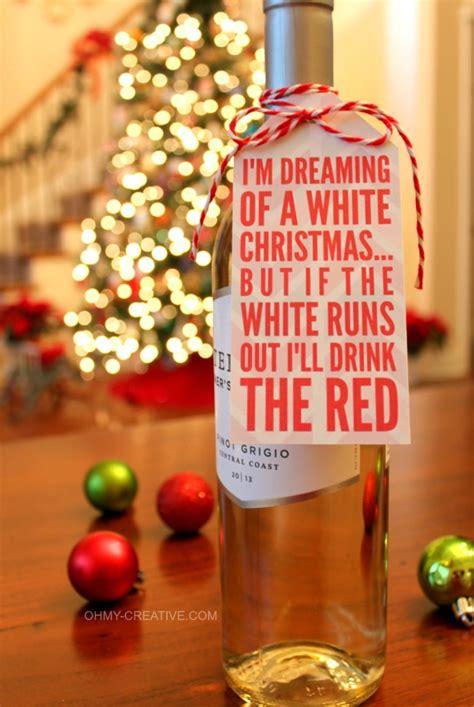 christmas wine bottle gift tag printable