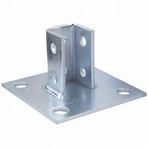 construction supplies post base support zinc 1 5 8 in With unistrut floor mount