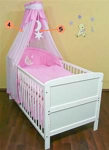 Babybett Komplett Günstig : babybett kinderbett weiss 140x70 bettset komplett neu ebay ~ Indierocktalk.com Haus und Dekorationen