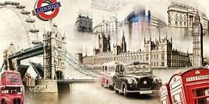 London Skyline Schwarz Weiß : st dtecollagen london skyline poster online bestellen posterlounge ~ Watch28wear.com Haus und Dekorationen