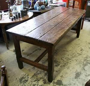 Table De Ferme Ancienne En Chene Massif Table De Lit