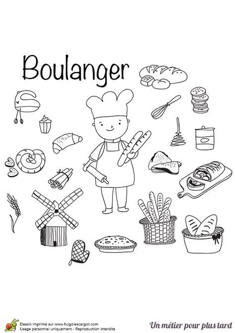 jeux de cuisine crepe coloriage le métier de boulanger pâtissier hugolescargot com